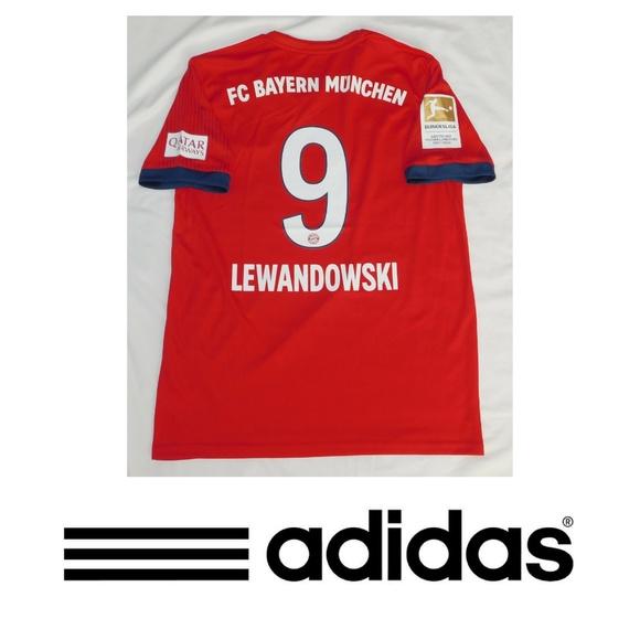 new style eb110 ec5c9 2019 Bayern Munchen Lewandowski #9 Soccer Jersey NWT